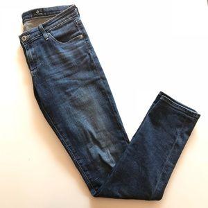 AG Jeans Stilt Cigarette Leg Skinny Jeans Med Dark